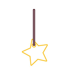 Decorative pendant with star vector