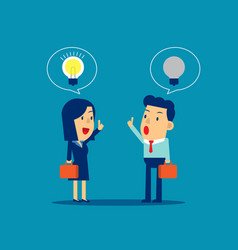 Difference ideas between leaders and employee vector