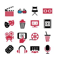 Digital red blue 16 cinema vector