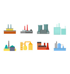 factory and facilities icons in set collection for vector image