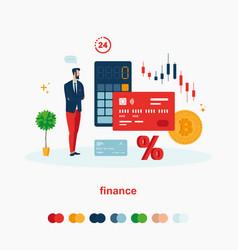Finance set vector