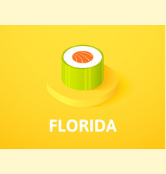 Florida isometric icon isolated on color vector