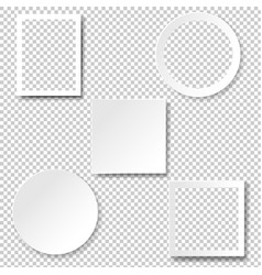Frame set isolated transparent background vector