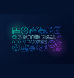 Geothermal power creative vector