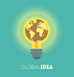 global idea vector image