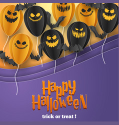 Happy halloween banner greeting card background vector