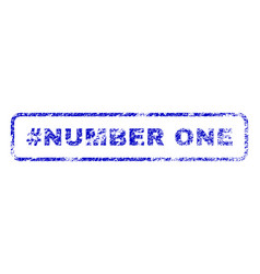 hashtag number one rubber stamp vector image