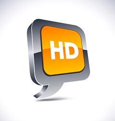 HD 3d balloon button vector