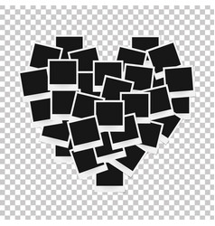heart concept made with photo frames isolated vector image