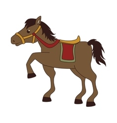 Horse saddle cartoon vector image