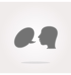Human head with speech bubble icon web vector image
