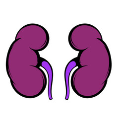 human kidney icon icon cartoon vector image