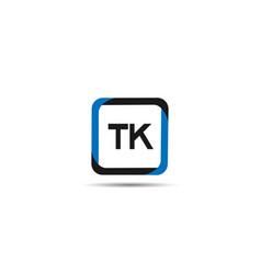 initial letter tk logo template design vector image