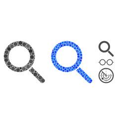 Locate composition icon round dots vector