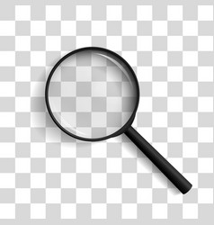magnifying glass at an angle of 45 degrees vector image