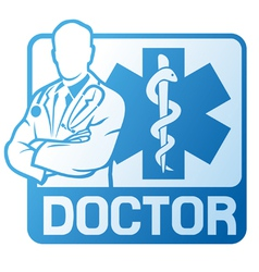Medical doctor symbol vector