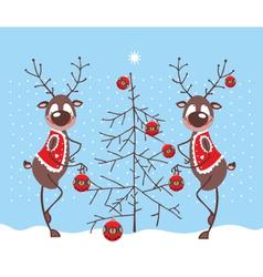 Merry Reindeer vector image