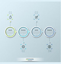 modern infographic design template with 4 circular vector image