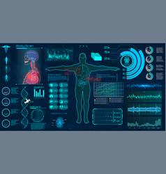 Modern medical examination hud style vector