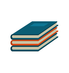 notebook study educational icon vector image