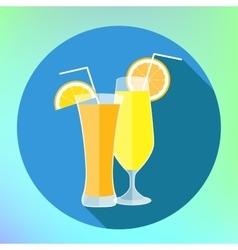 Orange and lemon juice flat vector image