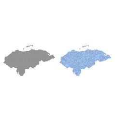 Pixel honduras map abstractions vector