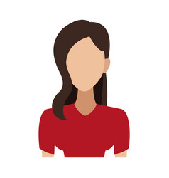 Portrait woman young character people image vector
