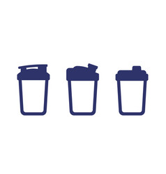 Protein shaker icons on white vector