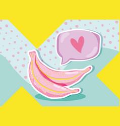 Punchy pastel bananas vector