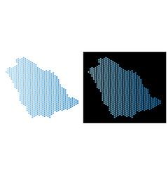 Saudi arabia map hex tile scheme vector
