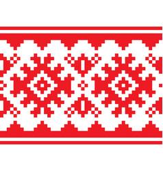 Scandinavian nordic belt seamless pattern vector
