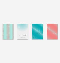 set brochure as minimalist trendy cover line vector image