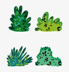 Set of bushes vector