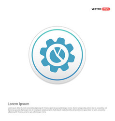 settings icon - white circle button vector image