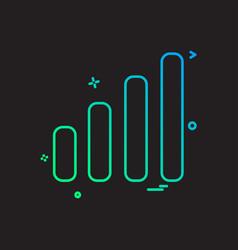 signals icon design vector image