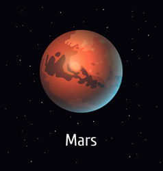 Solar system object mars on vector