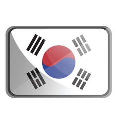 south korea flag on white background vector image