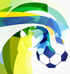 Stylish abstract football design vector
