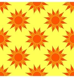 Sunny Orange Seamless Pattern vector image