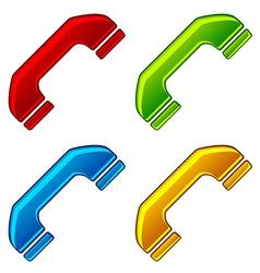 Telephone receivers vector