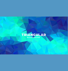 triangle polygonal abstract geometric background vector image