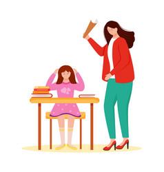 Trouble relationship flat school teacher vector