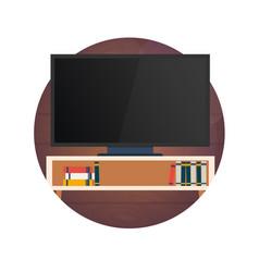 watching tv flat vector image