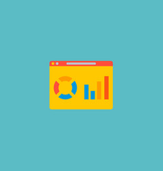 website analytics icon flat element vector image