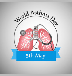 World asthma day background vector