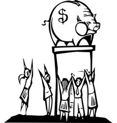 Worshiping banks vector