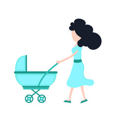 young beauty mother mom with child vector image