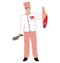 cooking meat vector image vector image