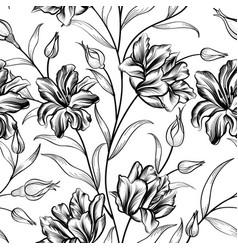 floral background flower pattern flourish vector image