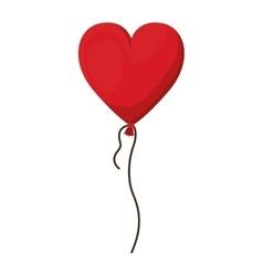 heart balloon icon vector image vector image